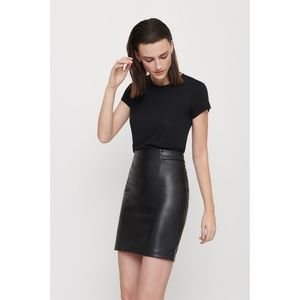 Dynamite Faux Leather High Waisted Mini Skirt